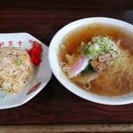 新富士 - 料理写真:半チャーハンセット750円