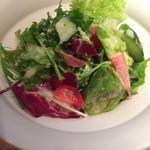 ビストロ セー - 週替わりビストロランチ(¥980)  →ローストポーク フライドポテトと温泉卵添え(バターライスorパン2種付き)サラダ