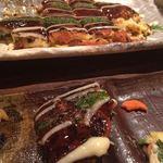 冨紗家 - コース内のお餅入りの豚ぺい焼き