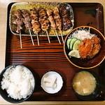 小金家 - 焼き鳥定食 970円