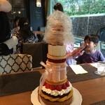 28294456 -                                               45周年記念の45cmタワーケーキに挑戦してきました