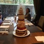 28294463 -                                               45周年記念の45cmタワーケーキに挑戦してきました