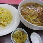 中華料理 煙臺閣 - 半フカヒレ麺+半チャーハンのセット 780円