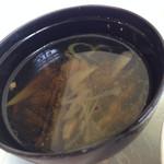 28295906 - せんべい汁のせんべい抜き。
