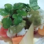 セレスティ - 鱧のマリネと野菜の蒸し煮