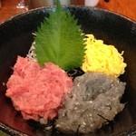 魚殿 - 湘南生しらすとネギトロの二色丼@新橋 魚殿