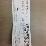 珈琲 文明 - お店のカード(裏)