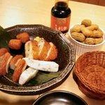 鹿児島黒豚しゃぶしゃぶ あじと - しゃぶしゃぶコースの前菜