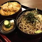 寿々喜 - ミニカツ丼セット(850円)2014年6月