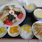 普天河 - 五目冷やし中華定食780円