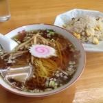 半チャーハン&ラーメン(700円)