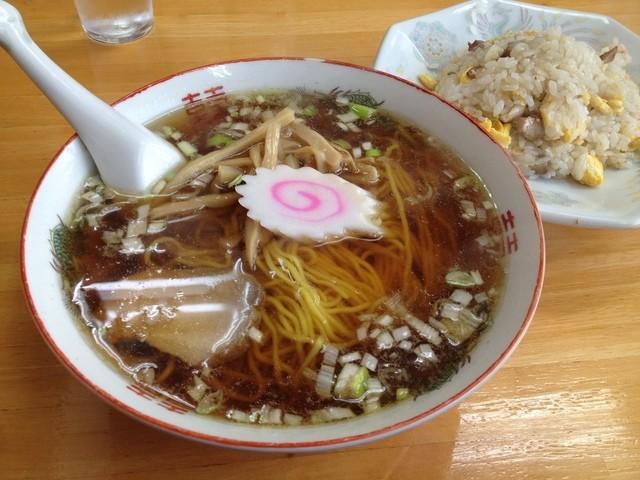 中華そば ますや - 半チャーハン&ラーメン(700円)