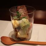 肉割烹 華家 新栄 - 抹茶とバニラアイスのパルフェ