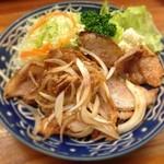 とんかつ 安右衛門 - 豚の生姜焼き