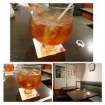 青山ティーファクトリー - 紅茶はよくわからないので「美味しいアイスティーを」とお願いしました。  大きめのカップにタップリ入っていて嬉しいですね。