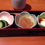 酒菜亭 ひぐち - ランチの前菜