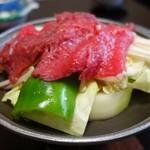 御宿 春芽 - 料理写真:(2014/4月 夕食)「高千穂牛のとうばん」
