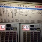 Nishiguchiudon - メニュー。かけうどん・そばが220円からあります。