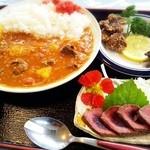 松風 - 鹿肉カレーセット¥1,000