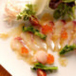 六角 - 白身魚のカルパッチョ
