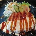 料理酒房勝 - チーズメンチ勝(かつ)ランチ