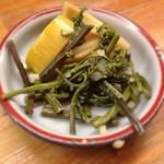 とんかつ 安右衛門 - 筍と蕨の煮物盛り合わせ