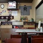 まるい食堂 - 古いけど綺麗な店内