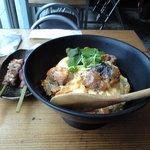 Aburidoribarichou - 親子丼 (串焼き)かしわ/白肝