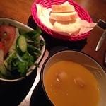 28334310 - ランチサラダ、スープ