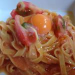 おやさいだいにんぐ umauma no ki - トマトのカルボナーラ