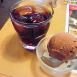 ブロンコビリー - 黒ウーロン茶&ダブルアイス