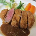 ビフカツ(国産牛フィレ肉100g)ランチ