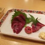 五六八そば - 2014' 6/16 サメのレバ刺し 680円