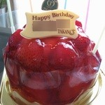 新宿高野 - いちごのドームケーキ