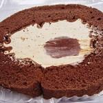 ハニー食品 - チョコロールケーキのはしっこw これウマいですw