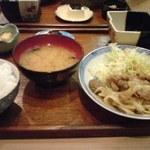 はんげぇ - 豚の生姜焼き定食680円