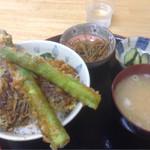 すずかけ - 料理写真:富良野天丼のアスパラ激ウマ