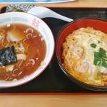 しぶき亭 - ミニかつ丼+ミニラーメン1,000円