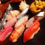 極ダイニング清水 - 晩御飯は、お寿司の盛り合わせなどなど!(^ー^)ノ ここの和食は美しくてカジュアルで美味い!( ̄▽ ̄)