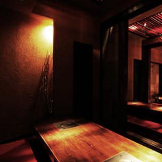 寛ぎの個室空間…30名様まで