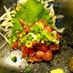 しのちゃん - マグロの頬肉の炙り