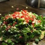 あどりぶ - 自家製葱をふんだんに使用したねぎどっさり焼き