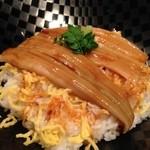わびさび - 日替わり魚ランチの煮穴子丼@新橋 わびさび本店