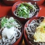 越前 つるきそば - 「好味そば」なめこ・山菜・天ぷらアップ