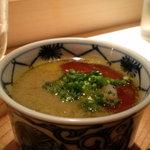 2836723 - 牡蠣とポン酢の茶碗蒸し・・。