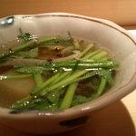 2836724 - ぶりしゃぶの出汁をスープにしてもらいました・・。