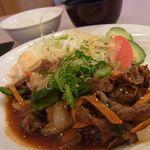 28360117 - 千屋牛と野菜の味噌ダレ炒め定食980円