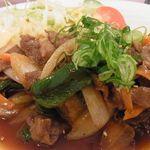 28360123 - 千屋牛と野菜の味噌ダレ炒め定食980円
