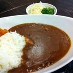 伊那Cafe - カレーライス サラダ付き600円
