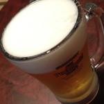小料理荒井 - 生ビール中(450円→ハッピーアワーで300円+税)2014年6月